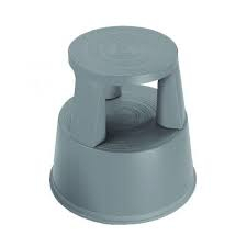 2WORK PLASTIC STEP STOOL DARK GREY